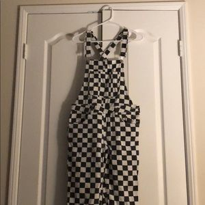 Other - Vintage checkered overalls